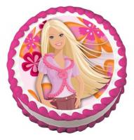 Barbie edible image cake sticker