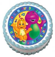 Barney edible image cake sticker