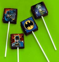 Batman edible image cake sticker brownie pops