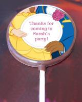 Beauty and the beast edible image cake sticker