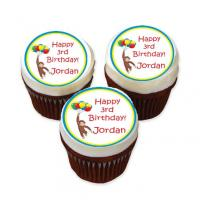 Courious George edible image cake sticker