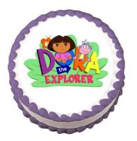 Dora the Explorer edible image cake sticker