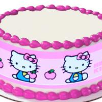 Hello Kitty edible image cake sticker
