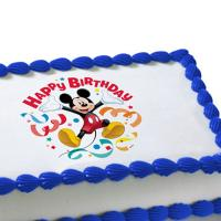 Mickey Mouse edible image cake sticker