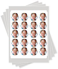 1.5 inch edible image cake sticker photo cakes