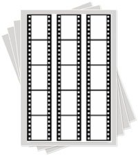 film strip cake sticker edible image