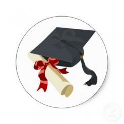 Graduation sugar sheet edible cake decal
