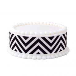 chevron print edible image sugar sheet