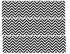 chevron print edible image cake sticker decal
