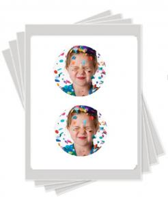 4 round edible image cake stickers photo cakes