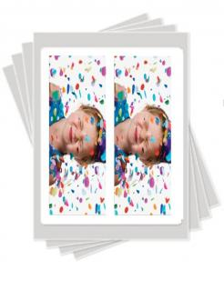 3 tall strips edible image cake stickers