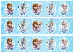 Frozen cake decals photo cakes stickers