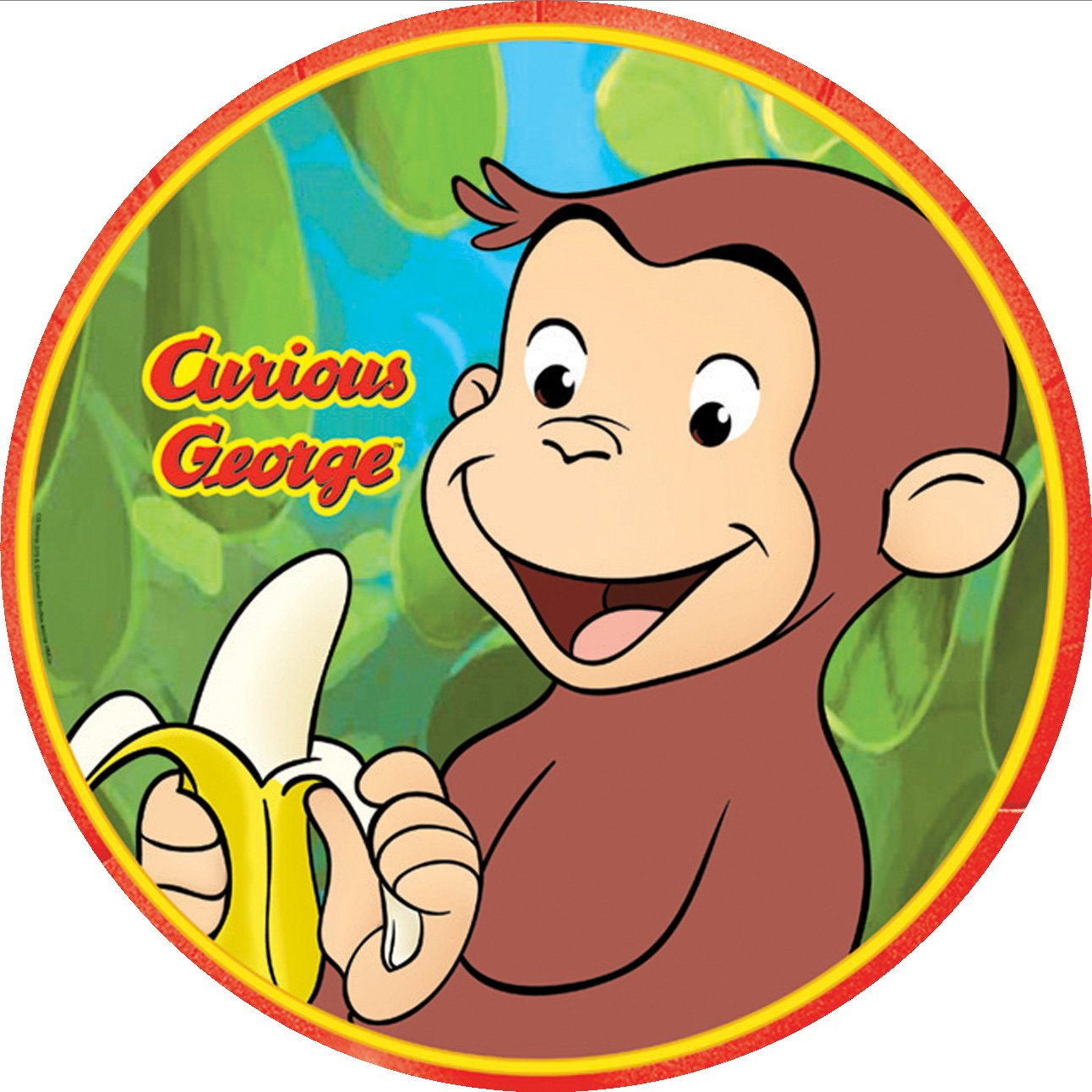 Edible Cake Images Curious George : edible images photo cakes cake stickers Curious George ...