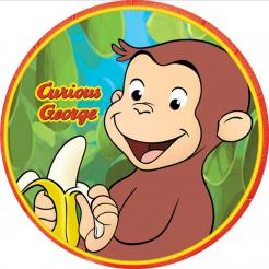 Curious George cake decals photo cakes stickers