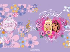 Barbie cake topper edible image cake sticker decal