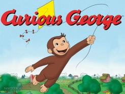 Curious George cake topper edible image cake sticker decal