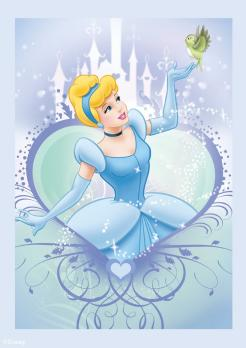 Cinderella cake sticker edible image cake decal