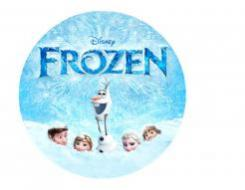 Frozen cake sticker edible image cake decal