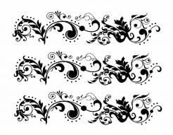 black Damask cake topper edible image cake sticker decals