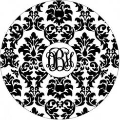 damask cupcake sticker edible image cake decals toppers