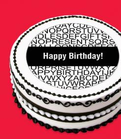Happy Birthday cake topper edible image sugar sheet cake decal