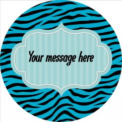 zebra print edible image cake topper sticker