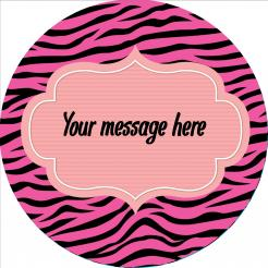 zebra print edile image cake sticker decal