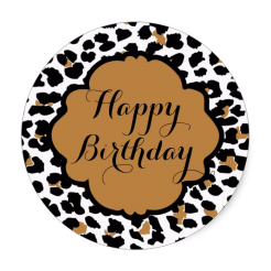 Cheetah cake sticker edible image cake decals toppers