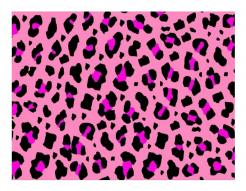 Leopard pink cake sticker edible image cake decals toppers
