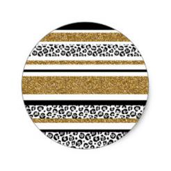 leopard print stickers large
