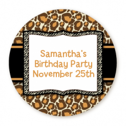 leopard print cake stickers edible image decals cake toppers