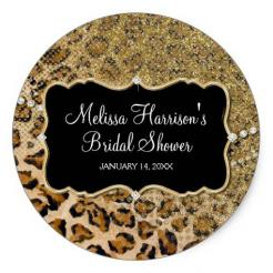 Leopard cake toppers cake sticker edible image cake decals toppers