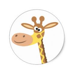 Giraffe edible image cake sticker cake toppers