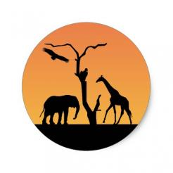 Giraffe cake stickers edible image cake toppers