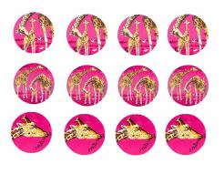 Giraffe strips cake sticker decals