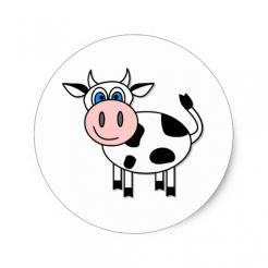 Cow strips cake sticker decals